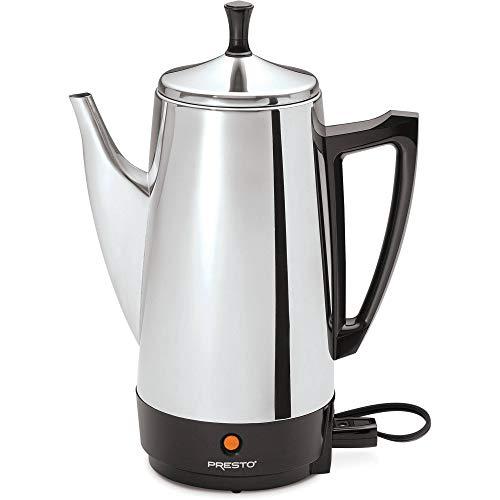 Presto 02811 12-Cup Stainless Steel Coffeemaker Chrome Renewed