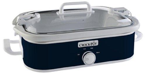 Crock-Pot 35-Quart Casserole Crock Manual Slow Cooker Navy Blue