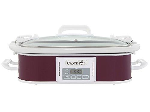 Crock-Pot 35-Quart Programmable Digital Casserole Crock Slow Cooker Plum