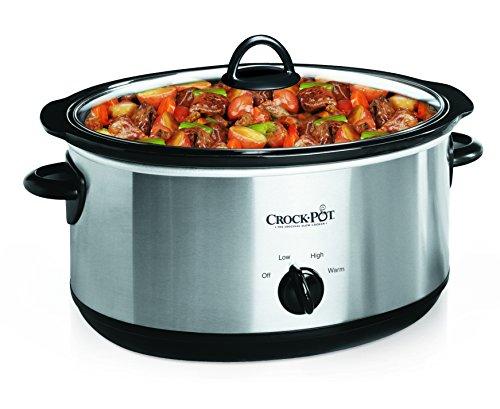 Crock-Pot SCV700SS Stainless Steel 7-Quart Oval Manual Slow Cooker 7 Quart