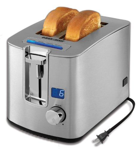 Black & Decker Tr1280s 2-slice Toaster, Silver