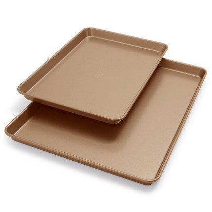 KitchenAid Professional-Grade Nonstick Jellyroll Pan and Baking Sheet KB2NSS95SHWT  Set of 2