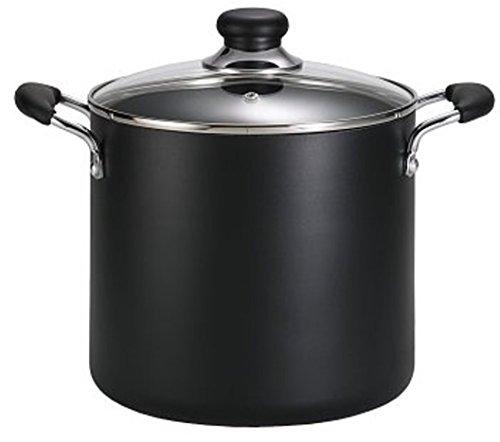 T-fal A92280 Specialty Total Nonstick Dishwasher Safe Oven Safe Stockpot Cookware, 12-quart, Black