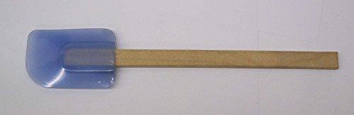 Blue Silicone Spatula wood handle