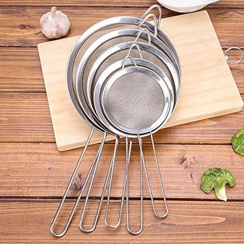 Stainless Steel Fine Wire Mesh Kitchen Sieve Kitchen Metal Fine Mesh Oil Strainer Flour Colander Sifter Sieve Filter Screen 8cm