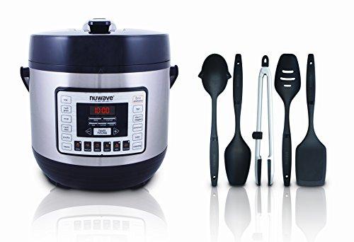 NuWave Nutri-Pot Digital Pressure Cooker with 11 Preset Function bonus accessories 5-piece Utensil Set