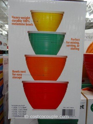 Pandex Melamine Mixing Bowl Set - 4 Bowls and 4 Lids
