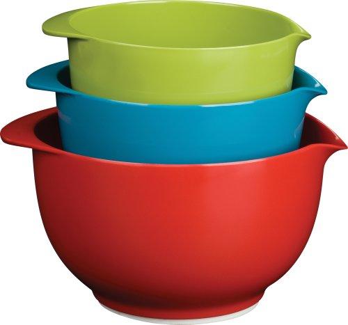 Trudeau Melamine Mixing Bowls Set of 3