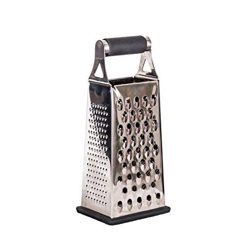 Munu Kitchen Tools - 4 Sided Medium Grater, Stainless Steel, Lemon Zester, Vegetable Peeler, Slicer, Best Boxed