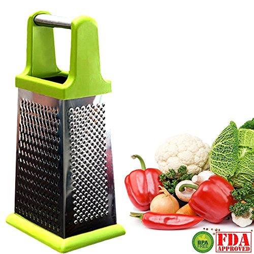 My Box Grater Stainless Steel | Most Versatile Stainless Steel 4-sided Box Grater/shredder/zester For Vegetables