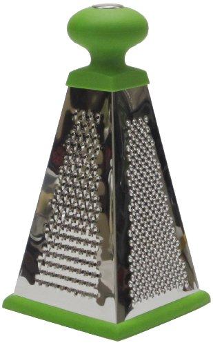 P!zazz 002-92lg 9-inch 4-sided Pyramid Grater, Green