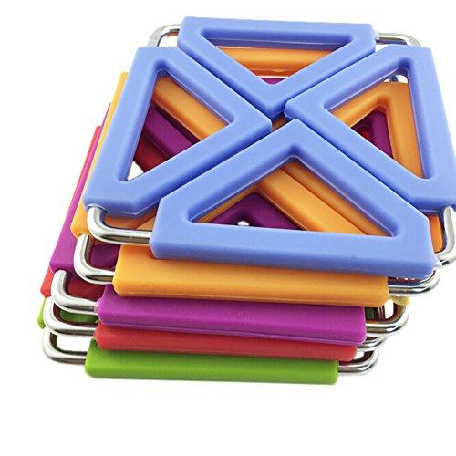SumDirect 5Pcs Foldable Silicone&Metal Hot Pot holder Trivet Mat for Home Kitchen MultiColor