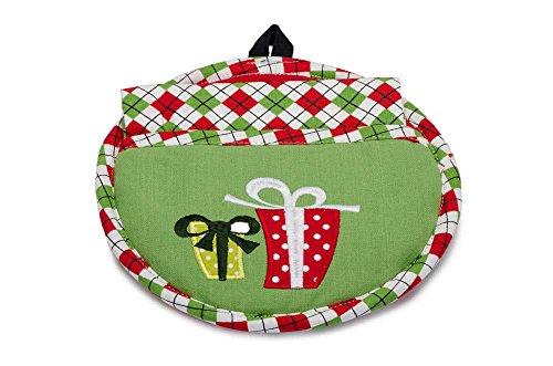 DII 2-Piece Set Christmas Ornament Pocket Potholder and Dish Towel 100 Cotton 27389