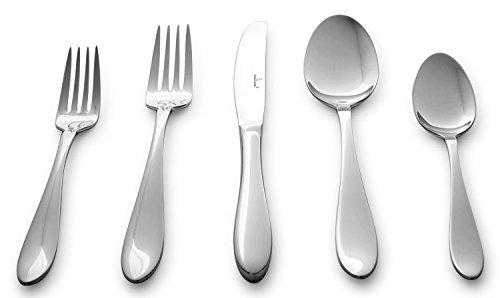 Culina Lorena 20pcs Flatware for 4 1810 Stainless Steel Silverware Mirror Finish