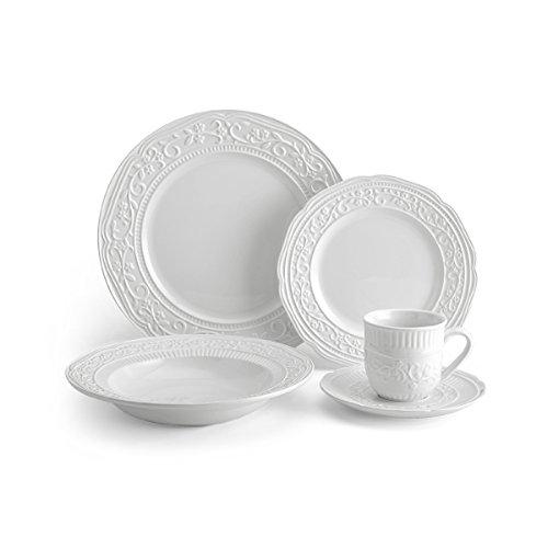 Mikasa 5224198 40 Piece American Countryside Dinnerware Set Off White