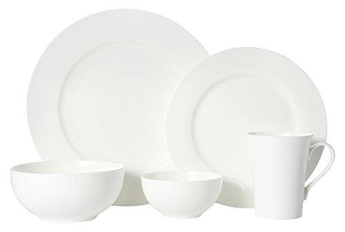 Mikasa 5225580 40 Piece Delray Bone China Dinnerware Set White