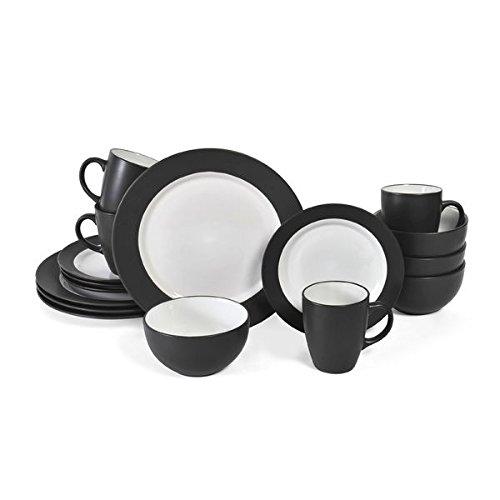 Pfaltzgraff Everyday 16-piece Black White Dinnerware Set