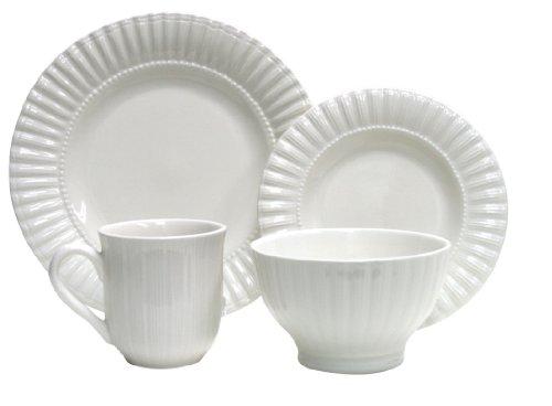 Thomson Pottery 16-pc Maison White Dinnerware Set No Size