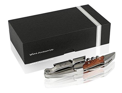Gentesi ™ Premium Waiters corkscrew Best wine bottle opener with Foil cutter And Wooden handle