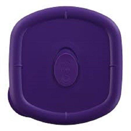 3 Quart Square Storage Bowl with Purple Vented Lid