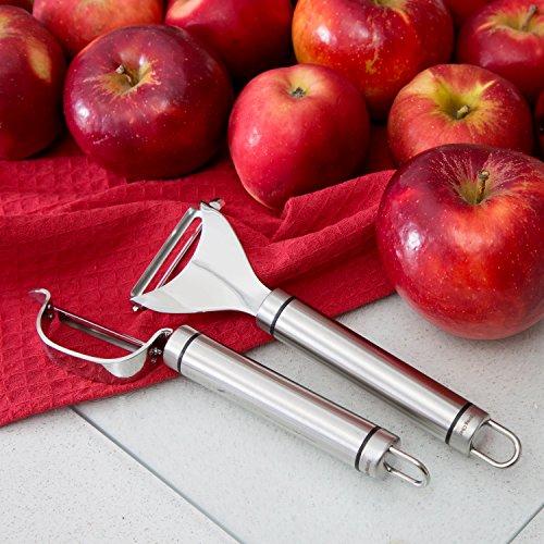Spring Chef Ultra Sharp Stainless Steel Vegetable Peeler Set For Potato, Carrot, Apple, Citrus