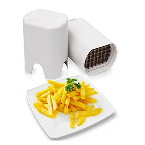 Dealglad New 2 In 1 French Fry Potato Cutters Peelers Zesters Vegetable Fruit Kitchen Tools Slicer Chopper Chipper