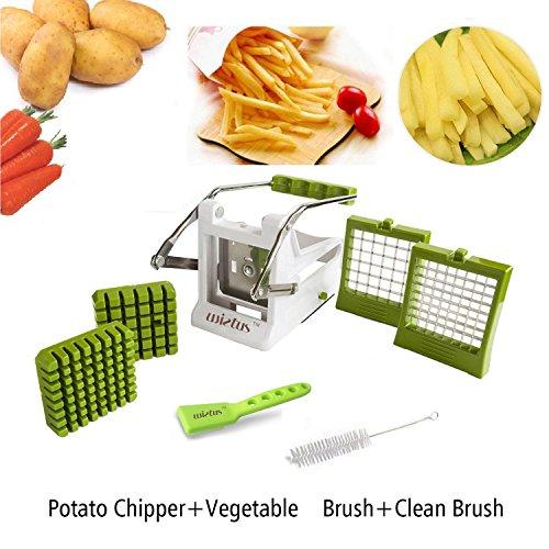 Wietustm Potato Vegetable Chipper /premium French Fry Cutter/potato Slicer Complete Bundle Includes 3-in-1 Peeler