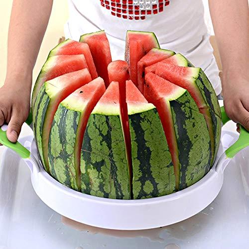 Watermelon Slicer 15 Large Stainless Steel Fruit Melon Slicer Cutter Peeler Corer Server for Home