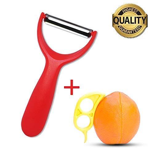 Fruit And Vegetable Peeler  Plastic Knife For Citrus - Sharp Stainless Steel Blade Non-Slip Handle Kitchen Gadgets Tools