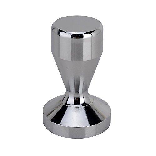 RECAPS Espresso Tamper 51mm Stainless Steel Base  Modern Professional Barista Espresso Coffee Tamper Flat Base Silver