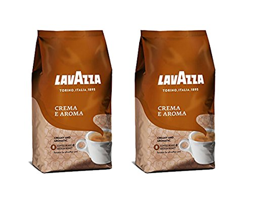 Lavazza Crema e Aroma Whole Bean Coffee Blend Medium Roast 22-Pound Bag Pack of 2