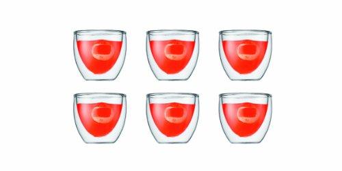 Bodum Pavina 2-12-Ounce Double Wall EspressoShot Glass Set of 6