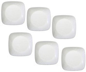"Corelle Dinnerware Dessert Plates Set Square Boutique Cherish 65"" perfect size for dessert Set of 6"