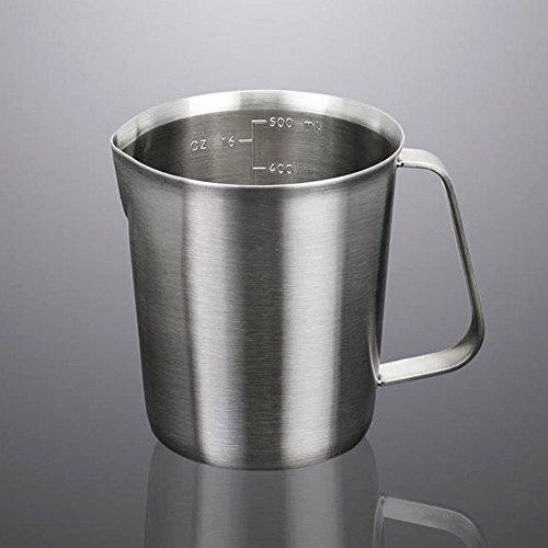 Milk PitcherStainless Steel Milk Cup Milk Frothing Pitcher Measuring Cup500ML