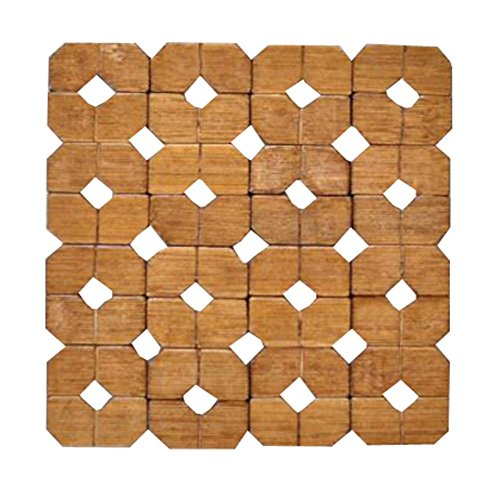 6 Sets Thicken Bamboo Drink Coasters Wooden Placemats for Kitchen Table-6x 6E