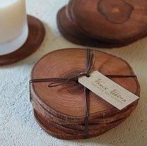 Teak Wood Coasters - Set of 6