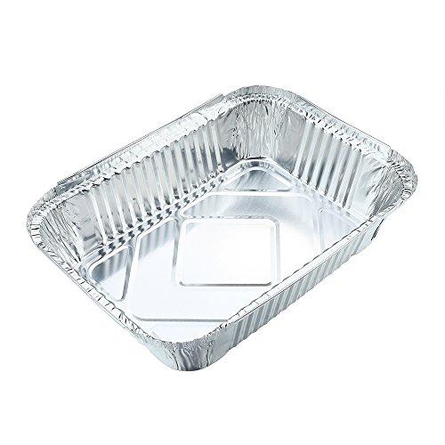 10pcs Square Disposable Aluminum Foil Pans Food Storage Containers Bakeware Pans with Lids-Crystallove Size 4