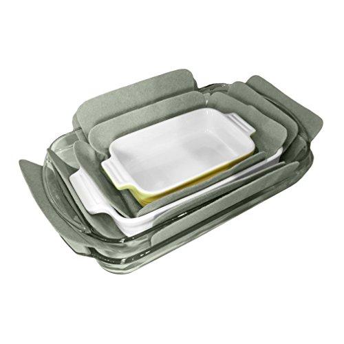 Evelots Bakeware Pan Dish Protectors Set Of 3