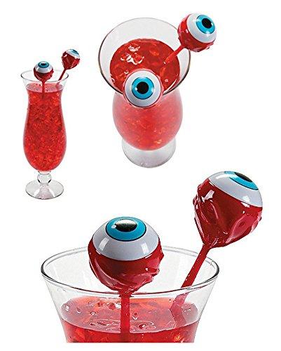 12 Creepy Eyeball Cocktail Stirrers