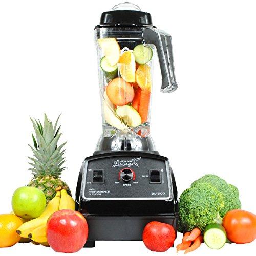 New Age Living Bl1500 3hp Smoothie Blender - 5 Year Warranty - Blends Frozen Fruits, Vegetables, Greens, Even