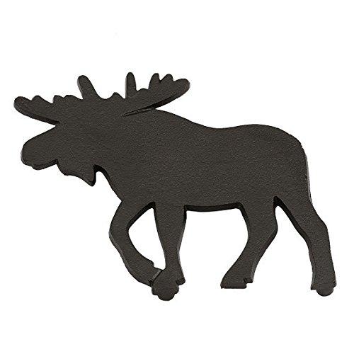 DII Moose Black Cast Iron Trivet 8 x 8 Inch