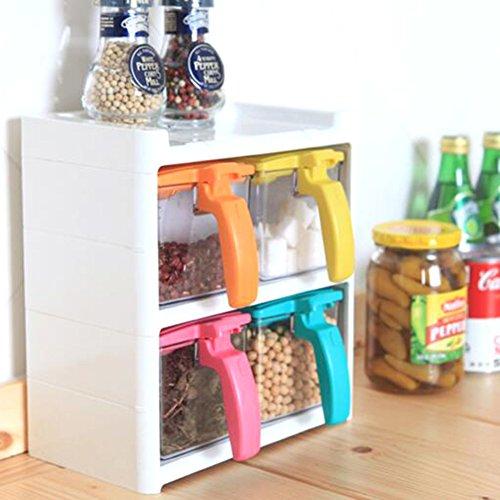 creative home Spice jar salt shaker kitchen supplies the cruetComposite plastic spice box set-B
