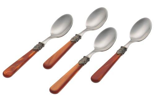 Rosanna Pearlized Copper Napoleon Espresso Spoons Set of 4