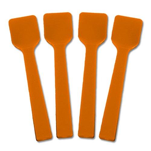 Solid Color Mini Plastic Gelato Spoons - 3000  Case Orange
