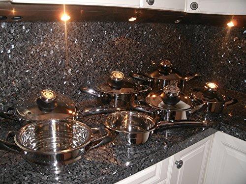 Swiss Amc Made Cookware Pot Set 12 Piece Casserole Saladmaster $2199,= Waterless Healthy