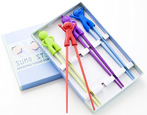 Sumo Sticks Chopsticks Set - Learn How to Use Training Chopsticks - Make Dinner Time FUN Chop Sticks Set