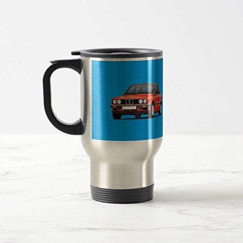 Zazzle Bmw 3 Series E30 Shiny Red Coffee Mug Stainless Steel TravelCommuter Mug 15 oz