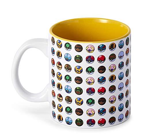 Pokemon Character Ceramic 20 OZ Coffee Mug Multi Color Pack of 1 - Eevee Gifts Merchandise Video Games Tea Cups  Mugs