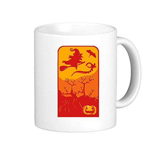 SthAmazing Witch Ceramic Travel Mugs Photo Coffee Travel Mugs