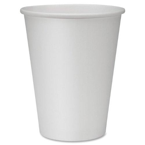Genuine Joe GJO19047CT Polyurethane-Lined Single-Wall Disposable Hot Cup 12-Ounce Capacity White Carton of 1000